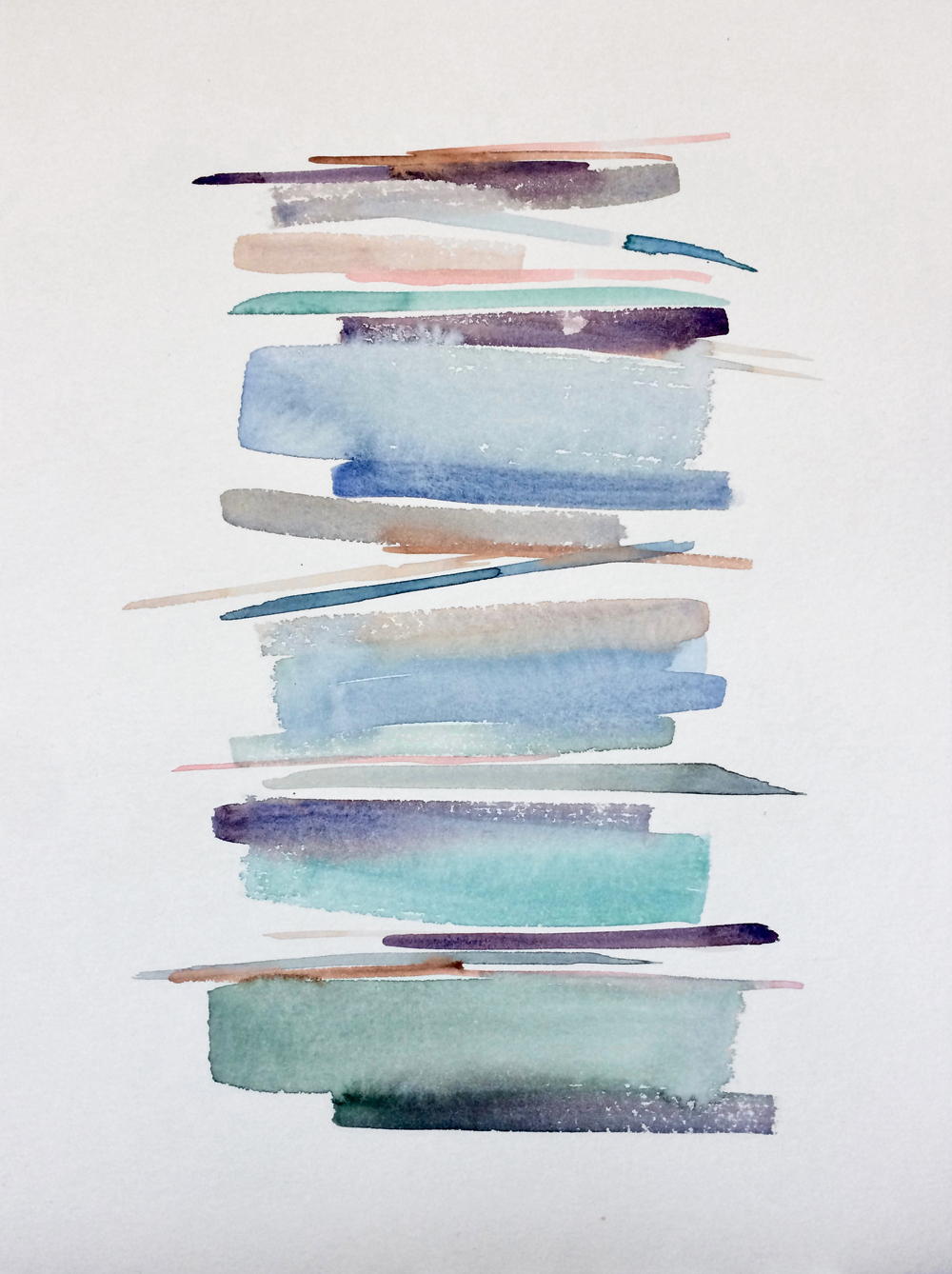 Stacks 4 - watercolour painting in pastel colours