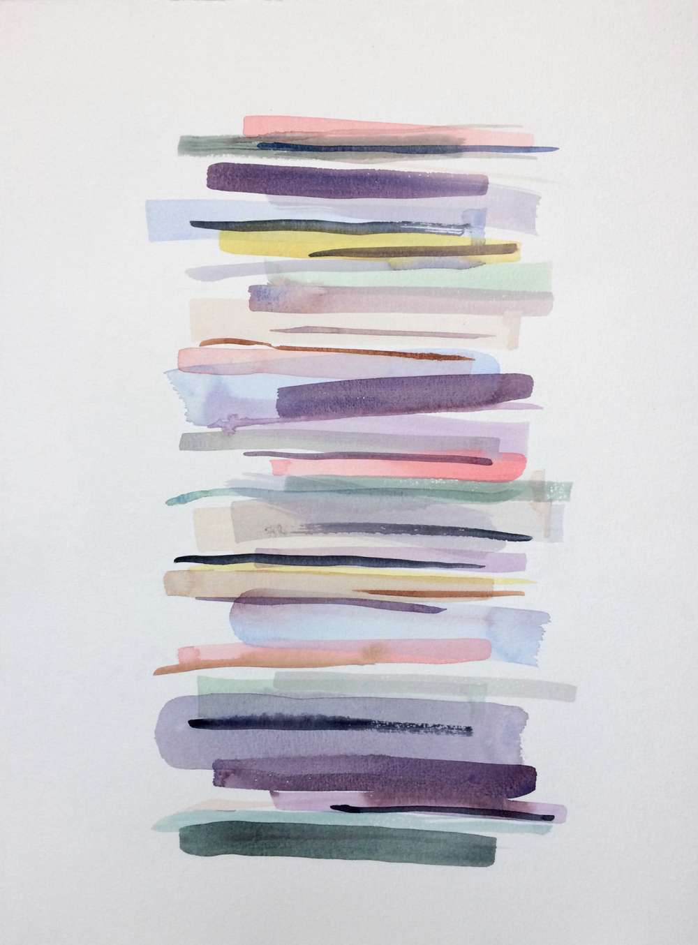 Stacks 5 - watercolour painting in pastel colours