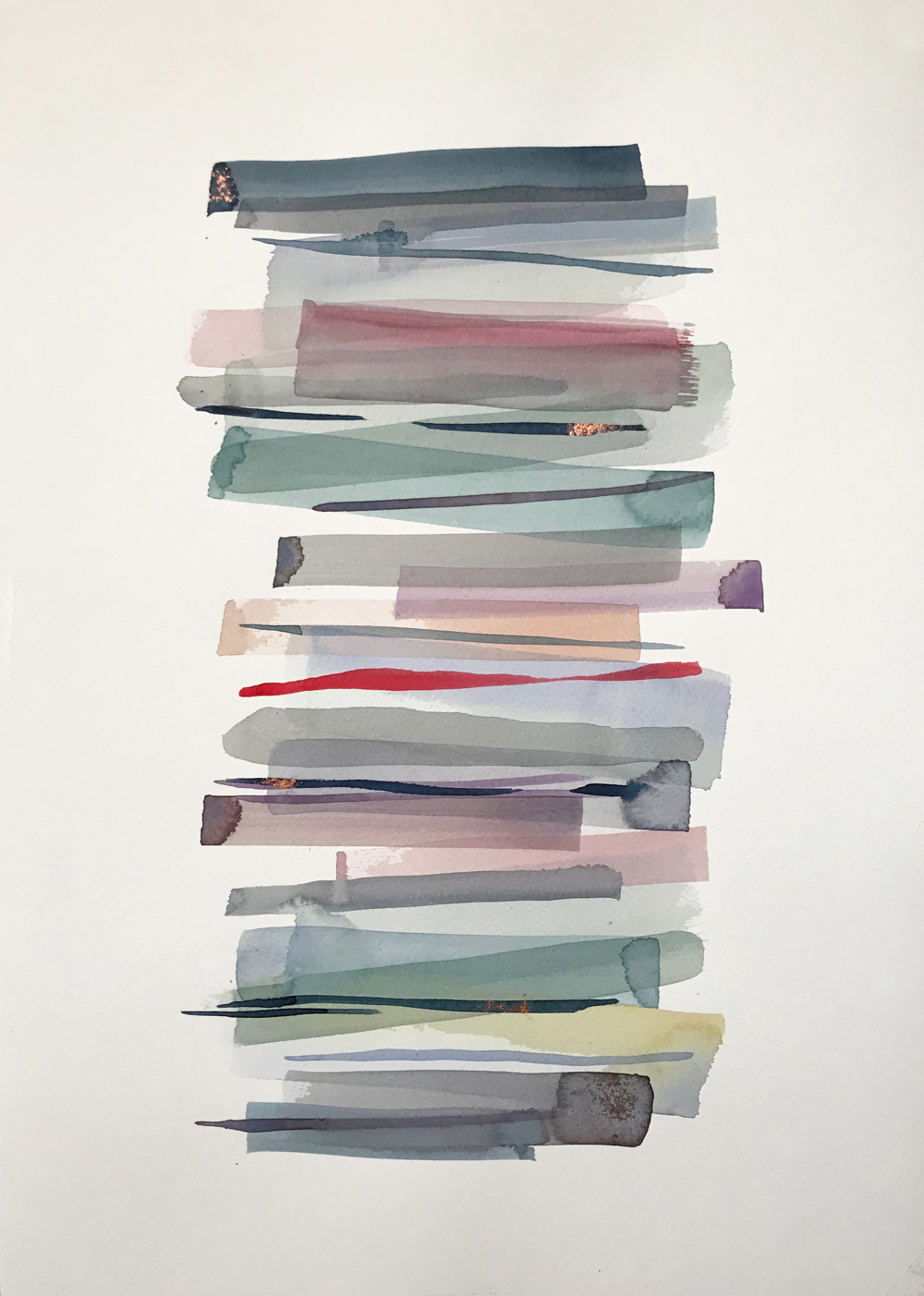 Stacks 6 - watercolour painting in pastel colours