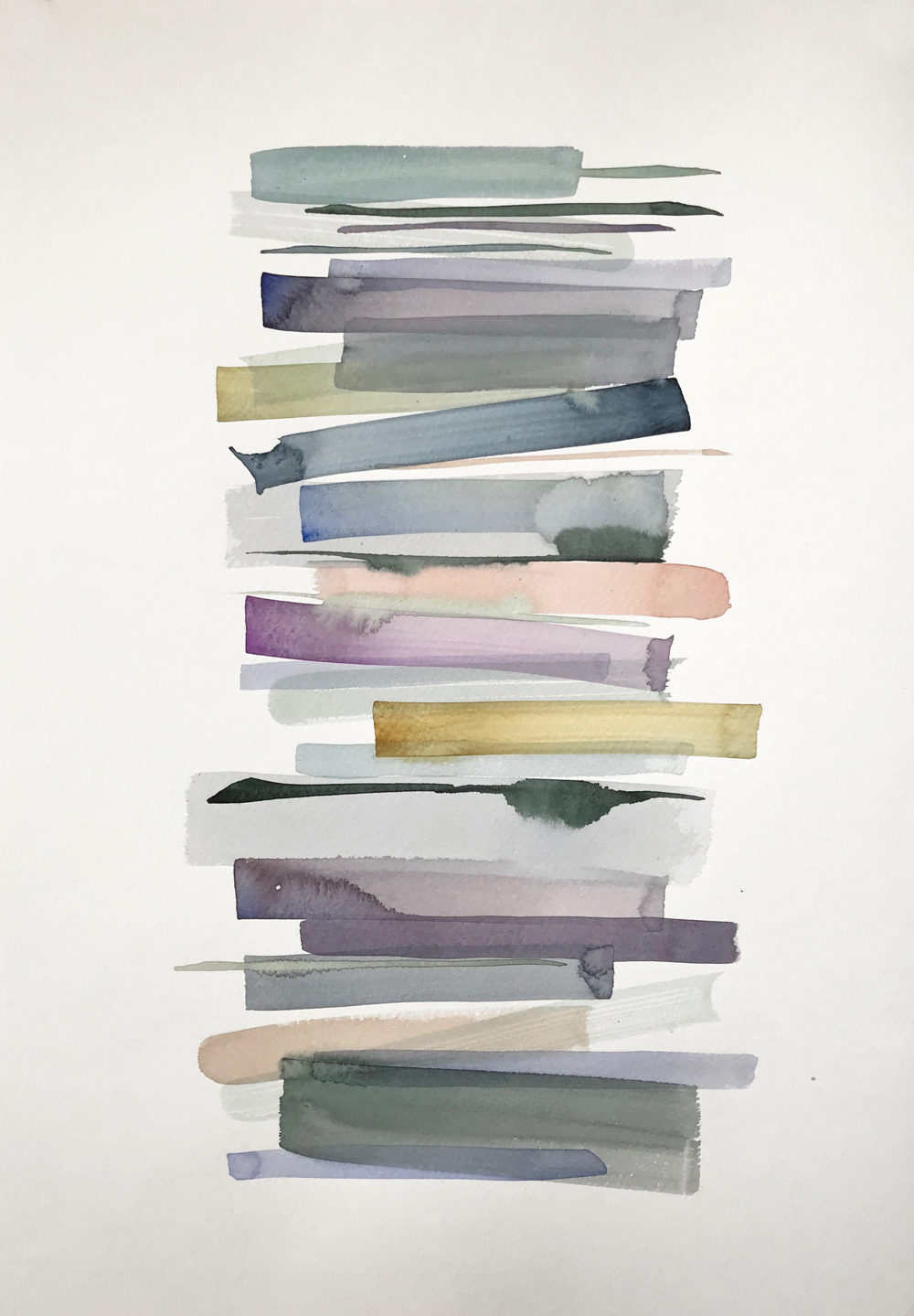 Stacks 7 - watercolour painting in pastel colours